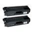 Logic-Seek 2 Toner kompatibel zu Brother TN-900BK HC Schwarz