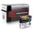 Logic-Seek 5 Tintenpatronen kompatibel zu Brother LC-223BK XL Schwarz