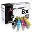 Logic-Seek 8 Tintenpatronen kompatibel zu Epson T2991-T2994 Stylus XP235 XL