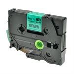 Whitebox 1x tasmy kompatyb. z Brother TZE-711, czarny na zielonym, 6mm x 8m