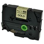 Whitebox 1x tasmy kompatyb. z Brother TZE-821, czarny na zlotym, 9mm x 8m